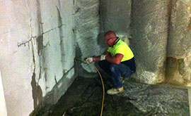 concrete crack injection treatment